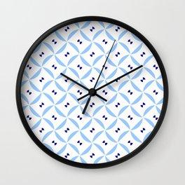 rosace 13- light and dark blue Wall Clock