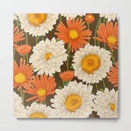 1969 Flower Power Pattern Metal Print