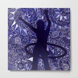 Hoop Dreams (Hula Hooper and Mandalas) Metal Print