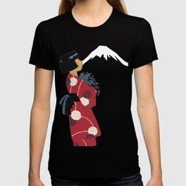 Japonesa y el volcan T-shirt