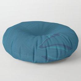 Blue Midnight Swirl Marble Floor Pillow