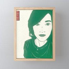 Cassie in Green Framed Mini Art Print