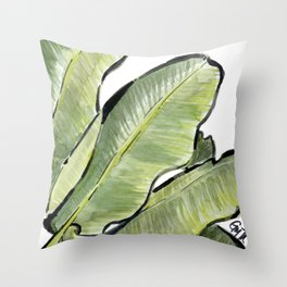 Palm Leaf No.2 Throw Pillow