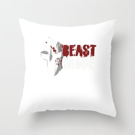 Awesome Weightlifter Bodybuilder Gym Coach Beast Mode Gym Trainer Gift Throw Pillow