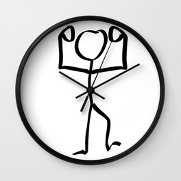 Stickman Figure Winner Illustration, One Line Drawing Figure, Success Symbol,  Wall Clock