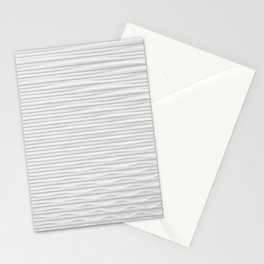 Cymatics white art Stationery Cards