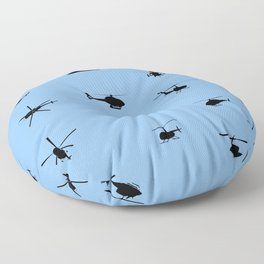 Helicopter Pattern Floor Pillow
