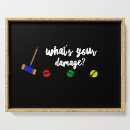 What's Your Damage Serving Tray