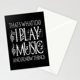 Music Lover Musical Notes Gift Motif Stationery Cards