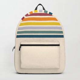 Enera - Classic 70s Vintage Style Retro Stripes Backpack
