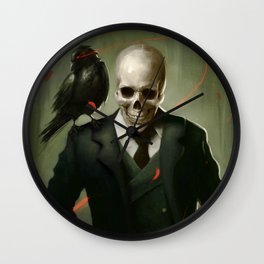 Skully Gentleman Wall Clock
