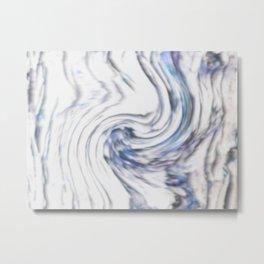 Tree Bark with Blue Swirl Metal Print
