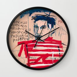 Picasso after Basquiat Wall Clock