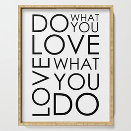 Do What You Love Print, Wall Art Print, Home Decor, Motivational Print, Gift Print, Quote Art Prints, Inspirational Poster Serving Tray