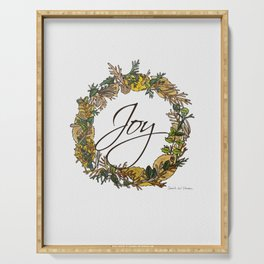 Joy Wreath Serving Tray