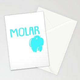 Dentist Molar Mouth Fight Enamel Stationery Cards