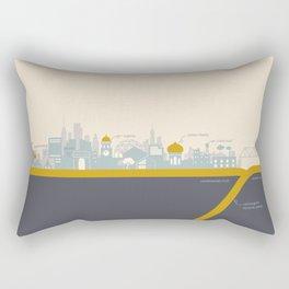 """City on a """"Plate"""" Rectangular Pillow"""
