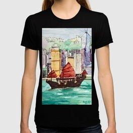Hong Kong Victoria Harbour Aqua Luna T-shirt