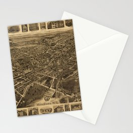 Aerial View of Middletown, New York (1921) Stationery Cards
