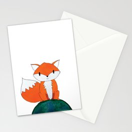 Cute fox on top of the world Stationery Cards
