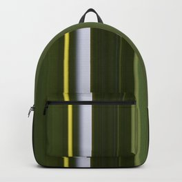 Stripes in Shades of Green Backpack