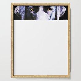 Black Labrador Retriever Dog Art - Lab Eyes Serving Tray