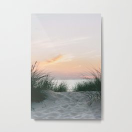 Dune grass at colourful pastel sunset | Painted sky at North Sea, Netherlands | Fine art travel photography Metal Print