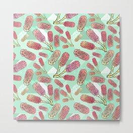 Australian Native Florals - Beehive Ginger Metal Print