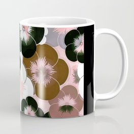Abstract mauve pink brown black floral Coffee Mug