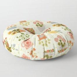 Some Flower Pots Floor Pillow