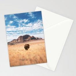 The Lonely Bison, Salt Lake City, Utah-Desert Landscape Stationery Cards