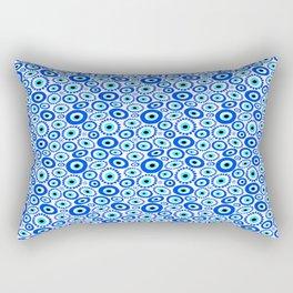 Evil Eye Mediterranean Lucky Symbol Rectangular Pillow