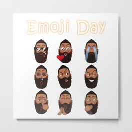 Harden Emoji Metal Print