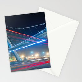 Bridge blue red night Stationery Cards