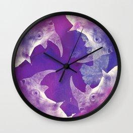 Rainbow Rhino Wall Clock