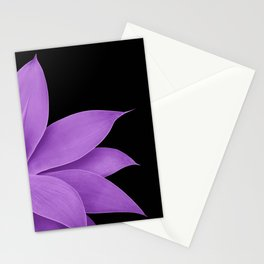 Agave Finesse #10 - Purple on Black #tropical #decor #art #society6 Stationery Cards