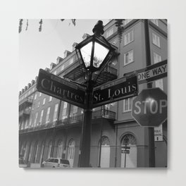 French Quarter, New Orleans streets Metal Print