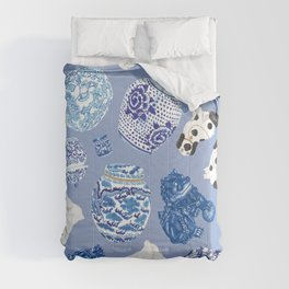 Chinoiserie Curiosity Cabinet Toss 7 Comforters