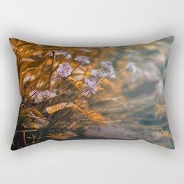 Misty Morning Behind The Garden Wall Rectangular Pillow
