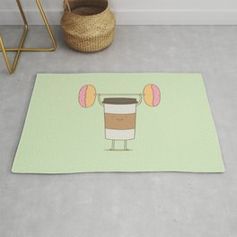 strong coffee workout Rug