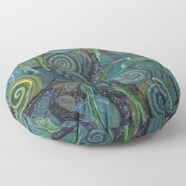 An Escargatoire of Snails Floor Pillow