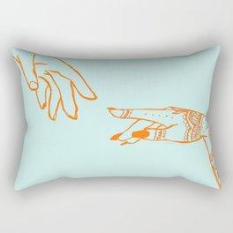 Henna hands Rectangular Pillow