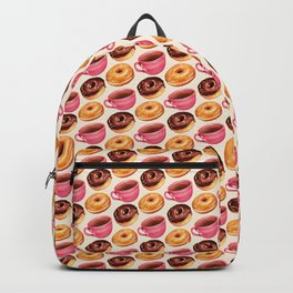 Coffee & Donuts Pattern Backpack