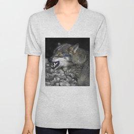 Big bad wolf Unisex V-Neck