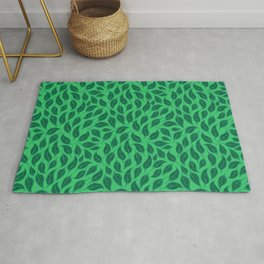 V.08 - Striated Leaves - Green Variegated Leaves Rug