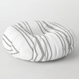AEGEAN MULTI STRIPE BLACK Floor Pillow