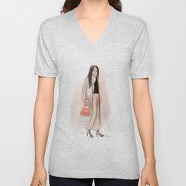 Fashion Sketch no 12 Unisex V-Neck
