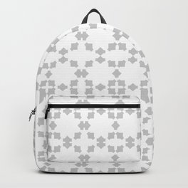 Abstract light grey pattern Backpack
