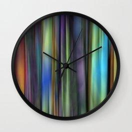 Rainbow: Blurred Tapestry Design Wall Clock