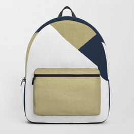 Gold meets Navy Blue & White Geometric #1 #minimal #decor #art #society6 Backpack